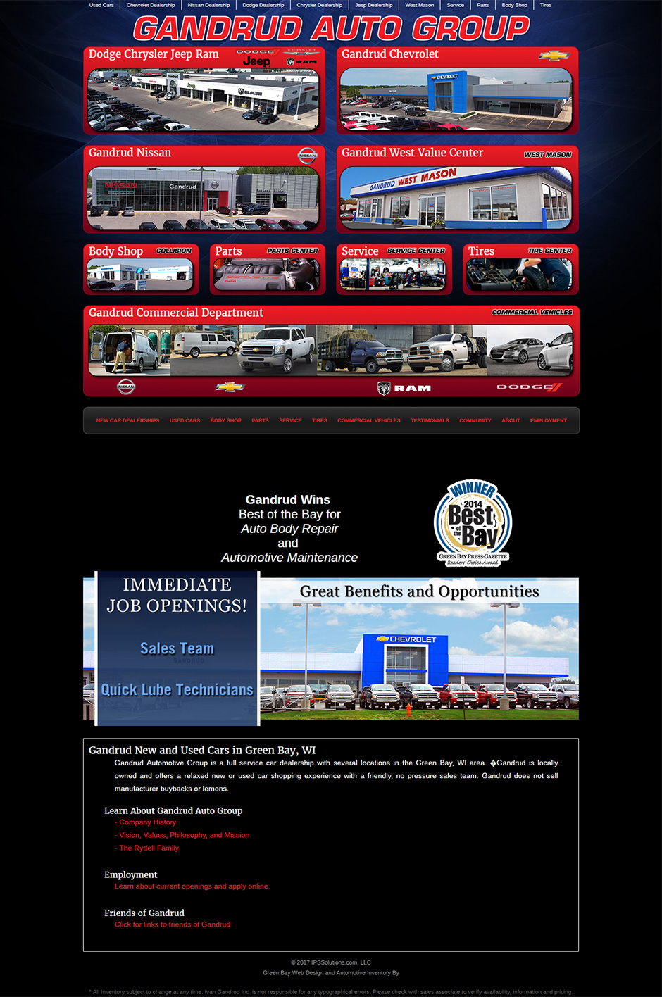 Gandrud Automotive Group and Green Bay Web Design Portfolio