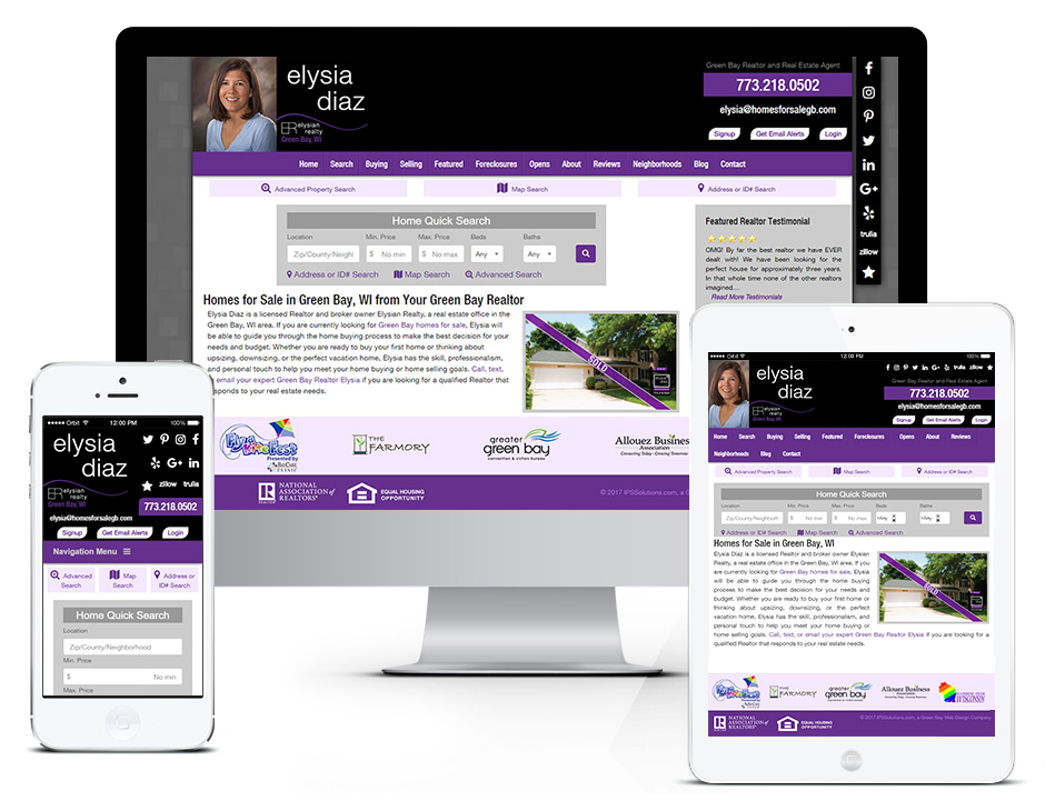 Homes for Sale Realty - SEO, Appleton and Green Bay Web Design Portfolio Responsive and Mobile Friendly