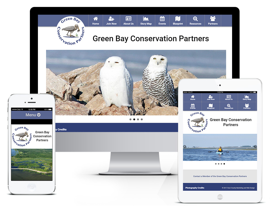 Green Bay Conservation Partners SEO Web Design Portfolio Responsive and Mobile Friendly