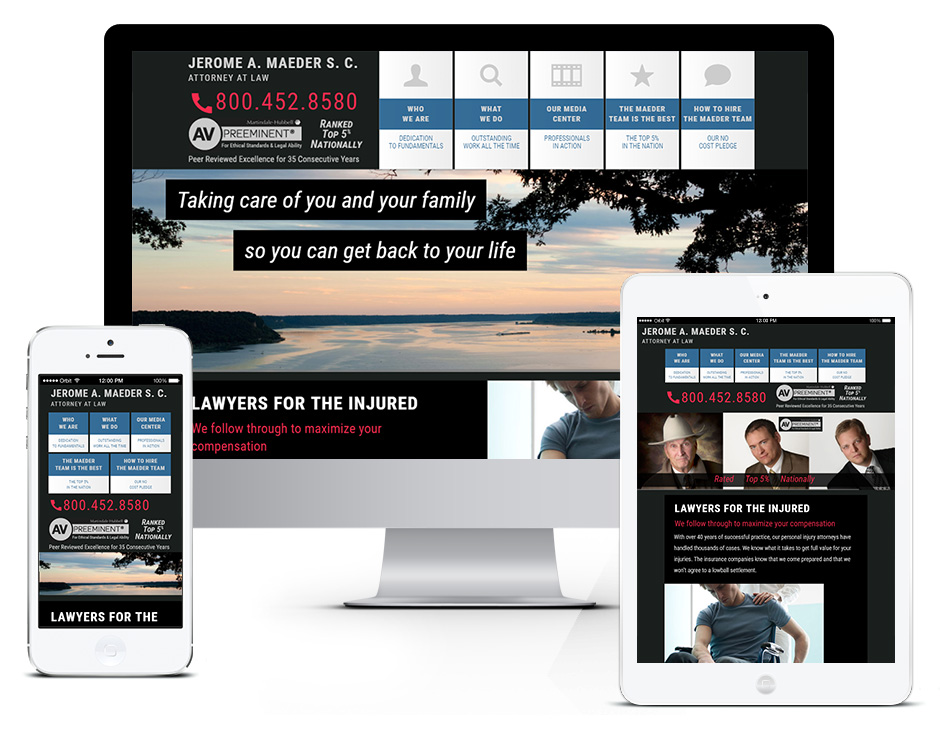 Maeder Law Firm Green Bay Web Design Portfolio in Door County Responsive and Mobile Friendly