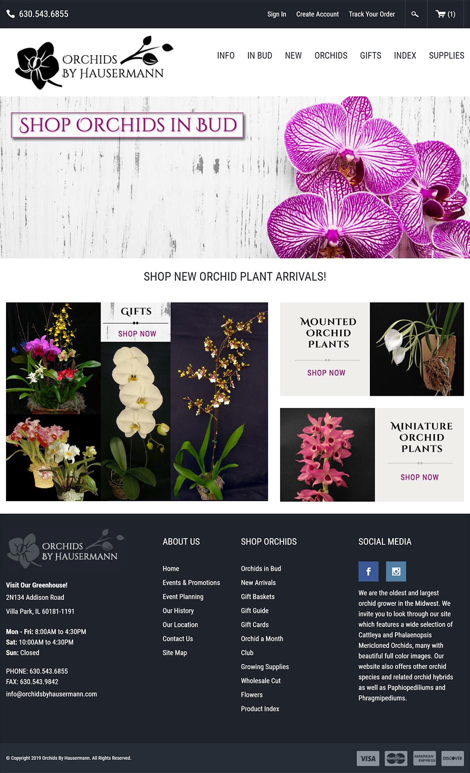 Orchids by Hausermann - Ecommerce Shopping Cart Website Development Portfolio